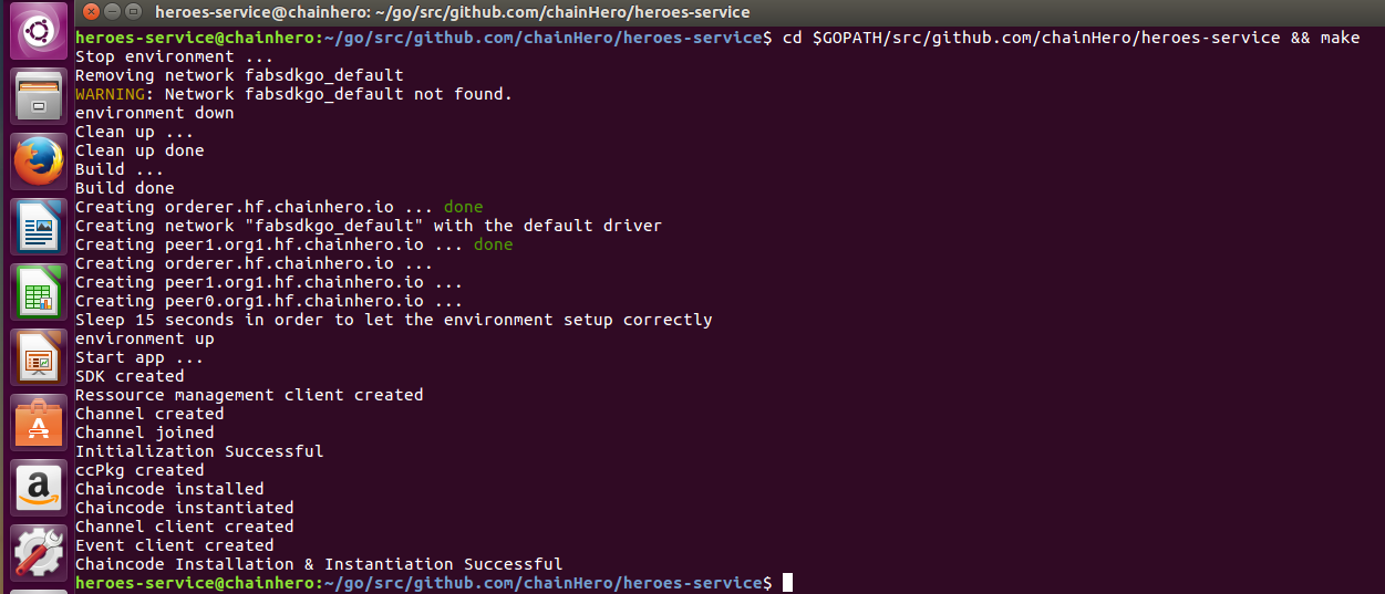 Screenshot Chaincode installed and instantiated
