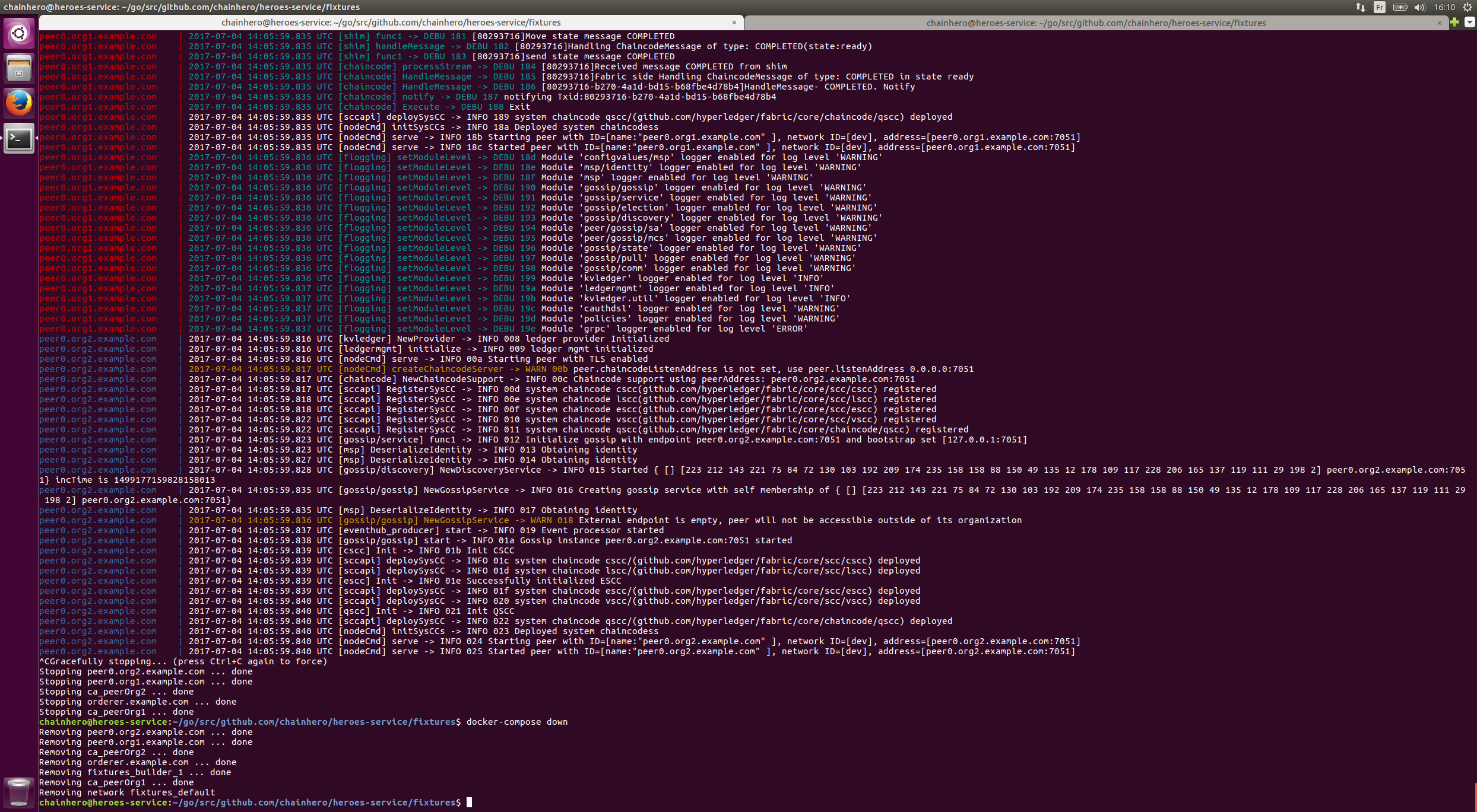 Screenshot command Docker command