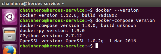 Screenshot end of the Docker installation