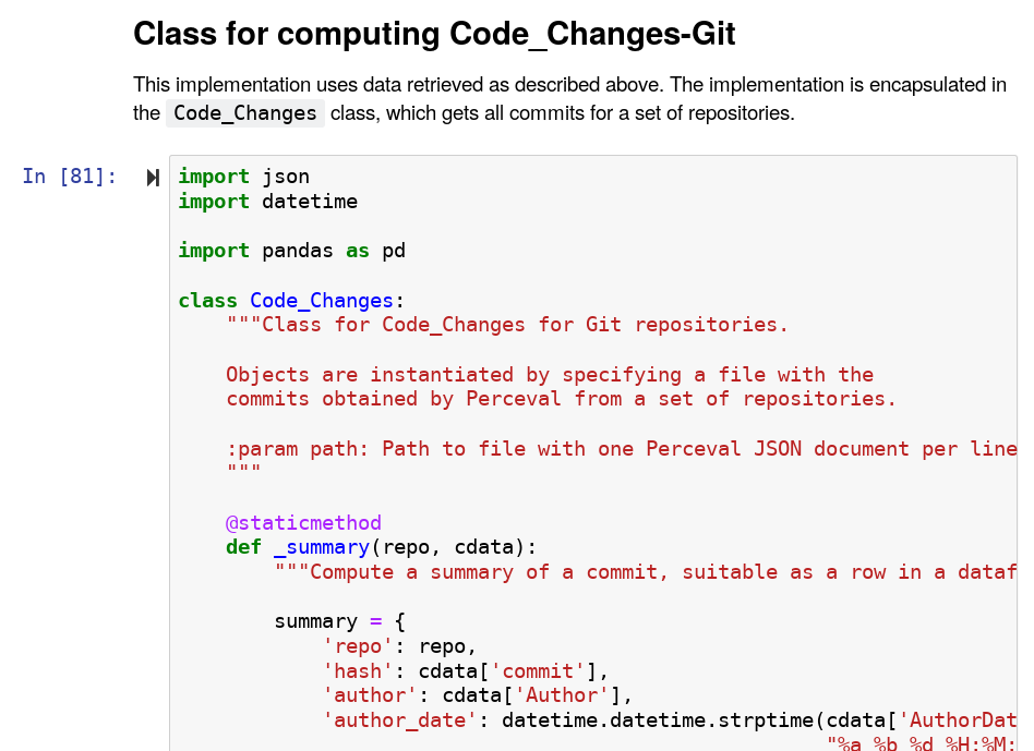 Python notebook with Code_Changes implementation for git