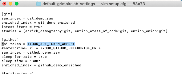 5. Screenshot for GitHub API YOUR_API_TOKEN_HERE