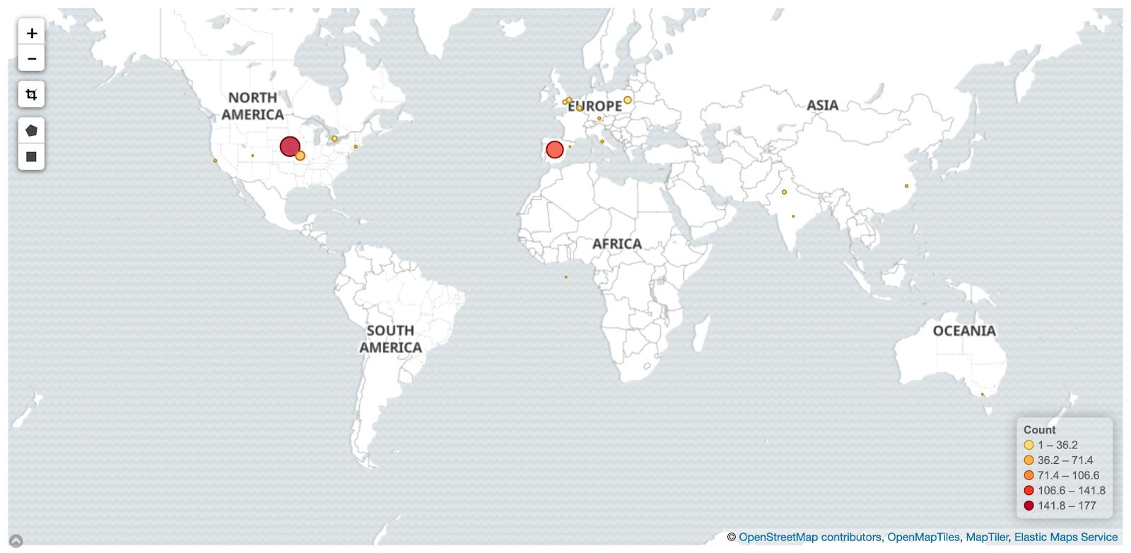 Contributor Location Dot Density Map