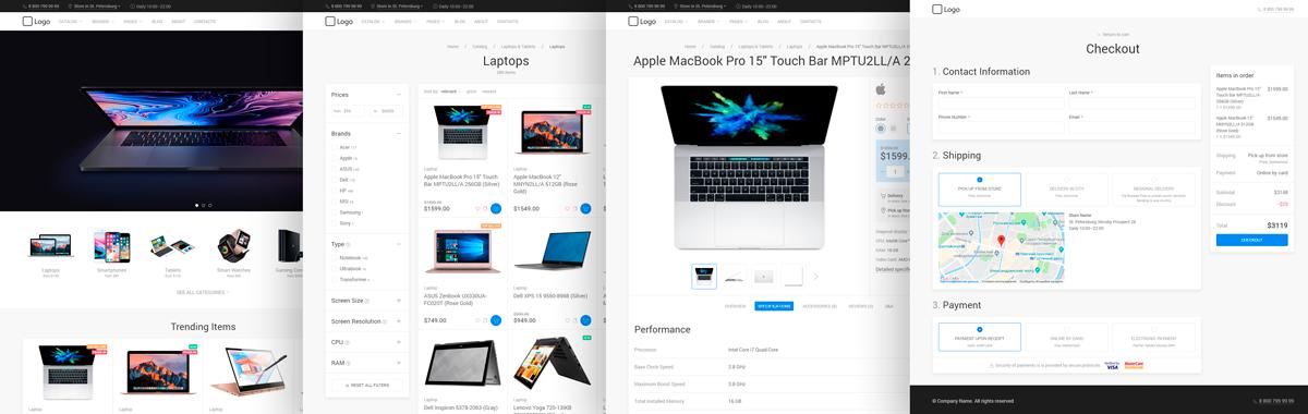 UIkit E-commerce Template