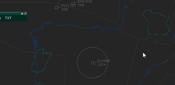 """RDF circle around the """"talking aircraft"""""""