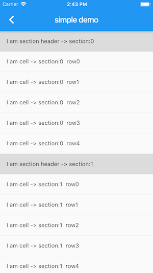 Flutter ListView With Section Header