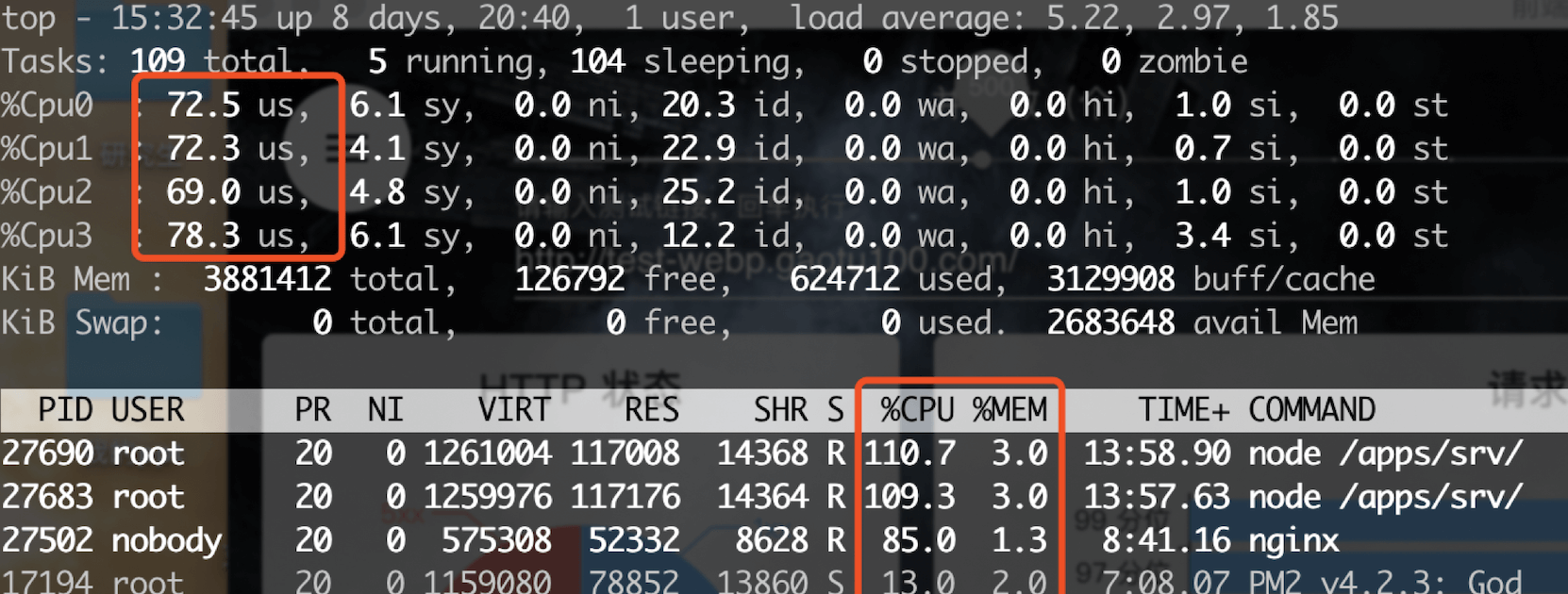 Nginx CPU