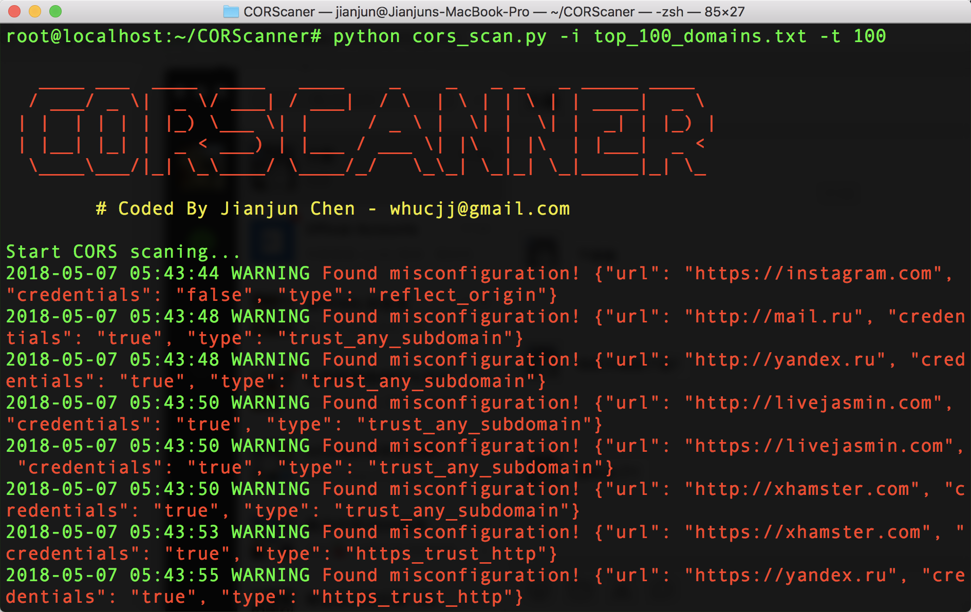 CORScanner