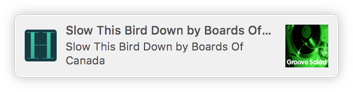 Screenshot of OS X notification