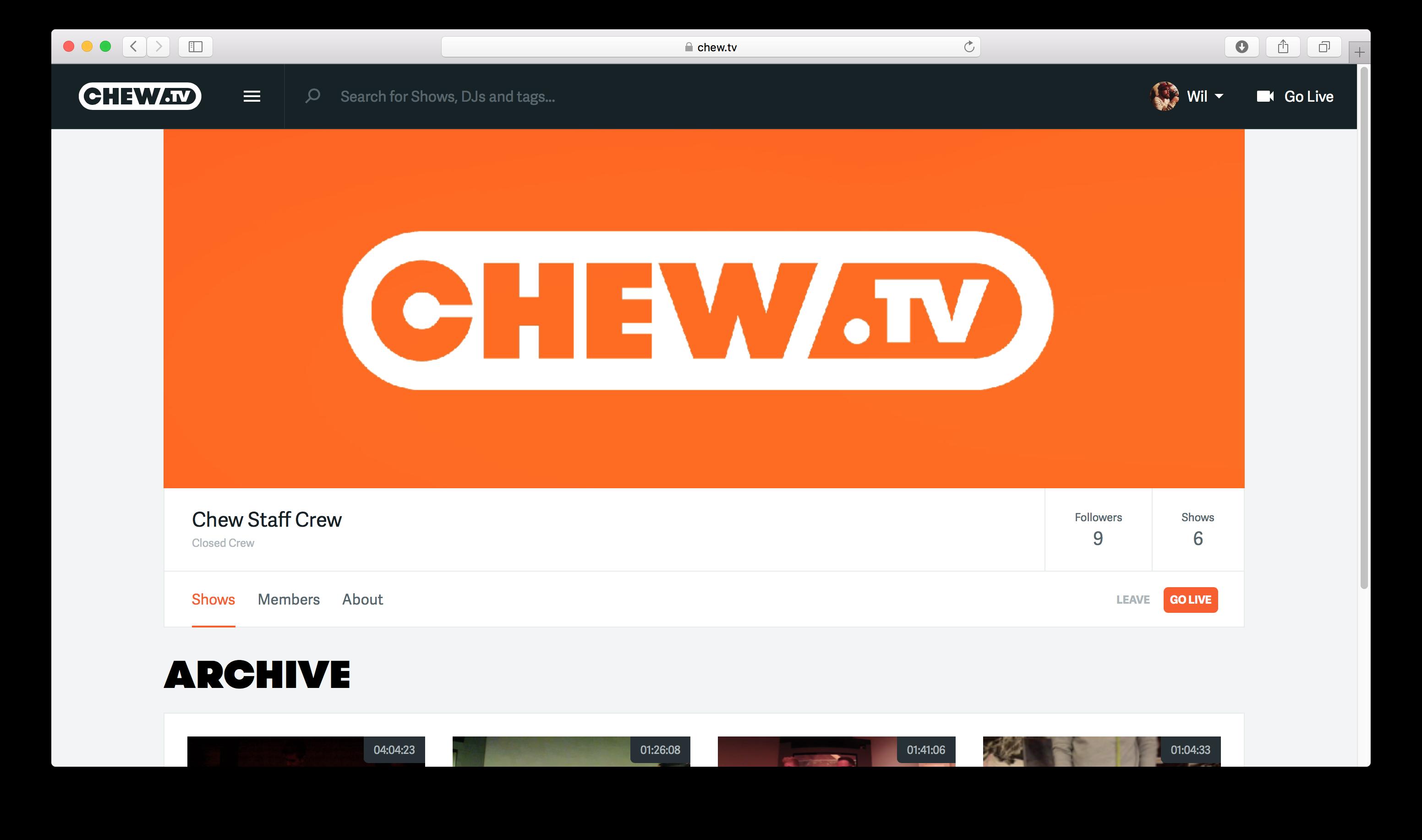 Chew Staff Crew
