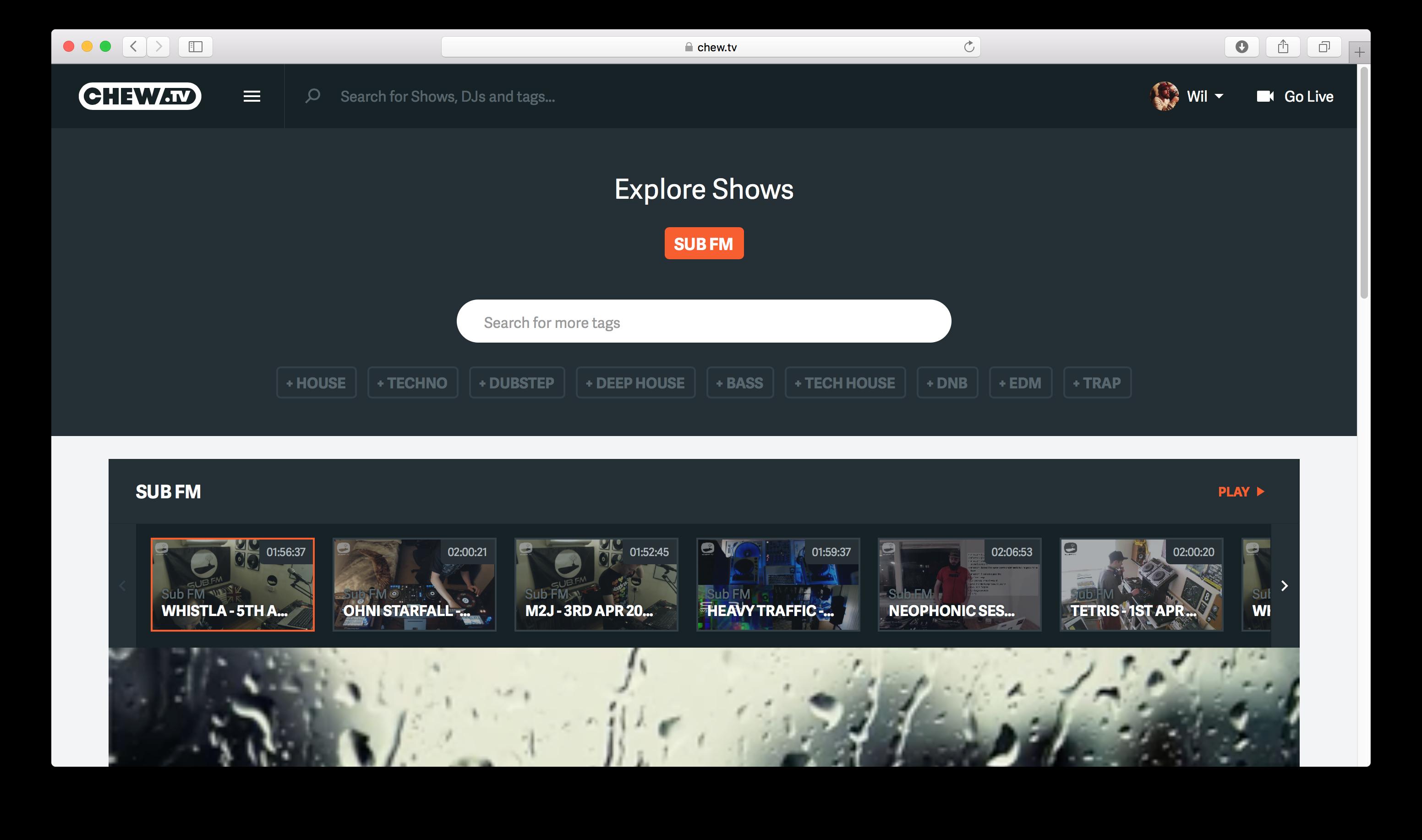 SUB FM Explore Page