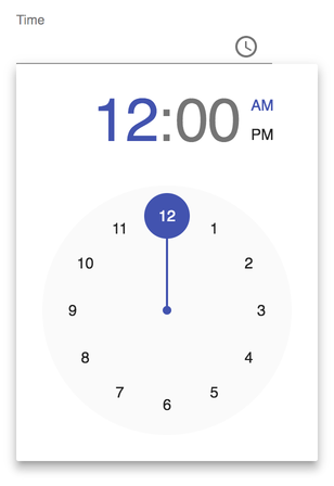 Image of Material UI TimePicker