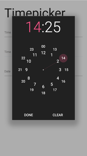 Image of Materialize Clock Dark