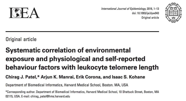 XWAS in Telomere Length