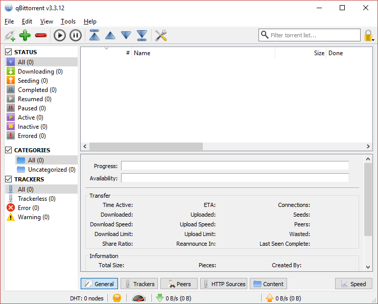 qbittorrent screenshot
