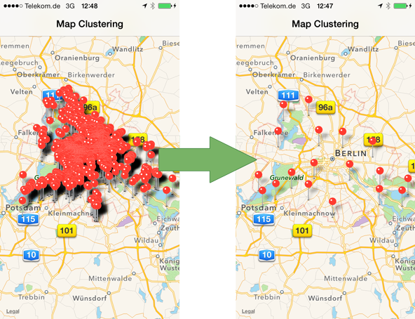 Map Clustering