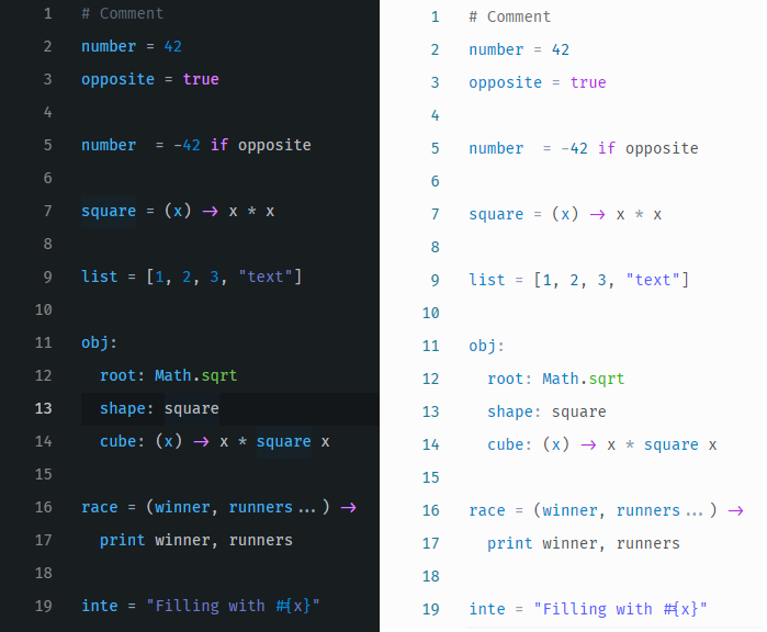 CoffeeScript Screenshot