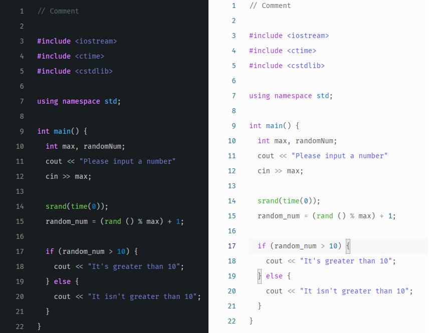 C++ Screenshot