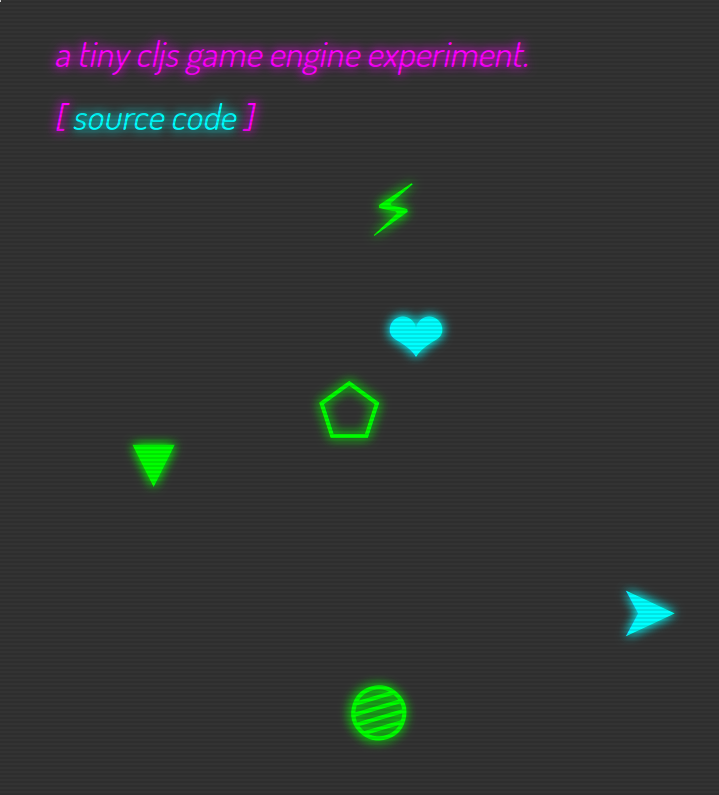 Tiny CLJS Game Engine Screenshot