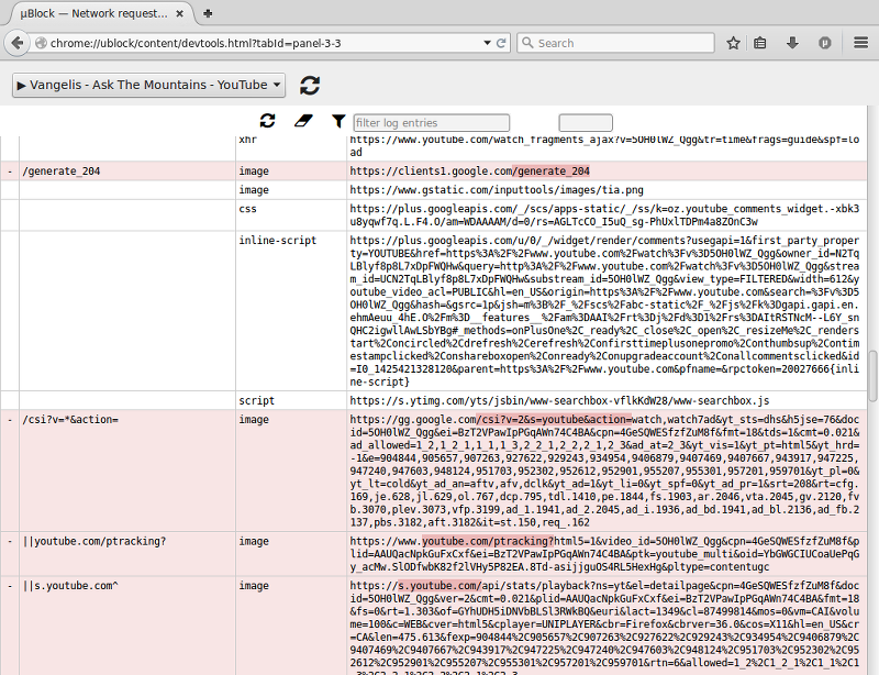 The network request logger · uBlock-LLC/uBlock Wiki · GitHub