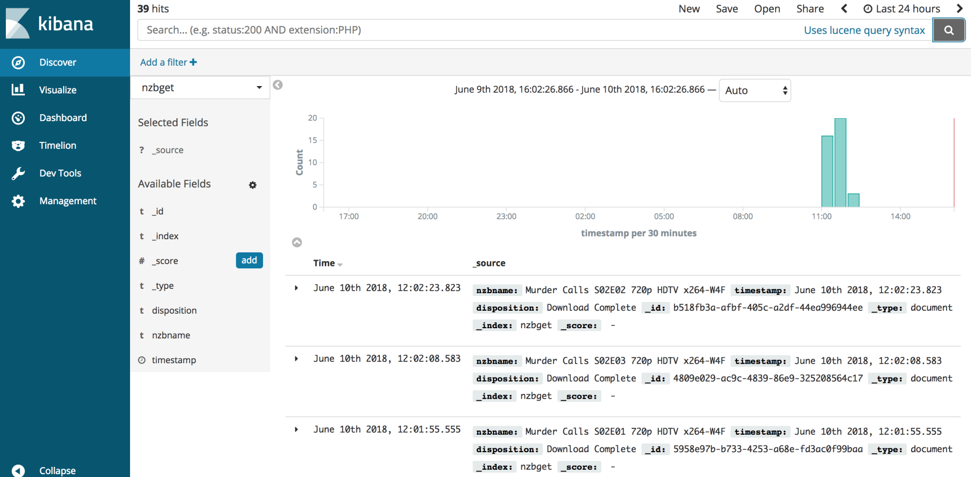 Simple Kibana Search