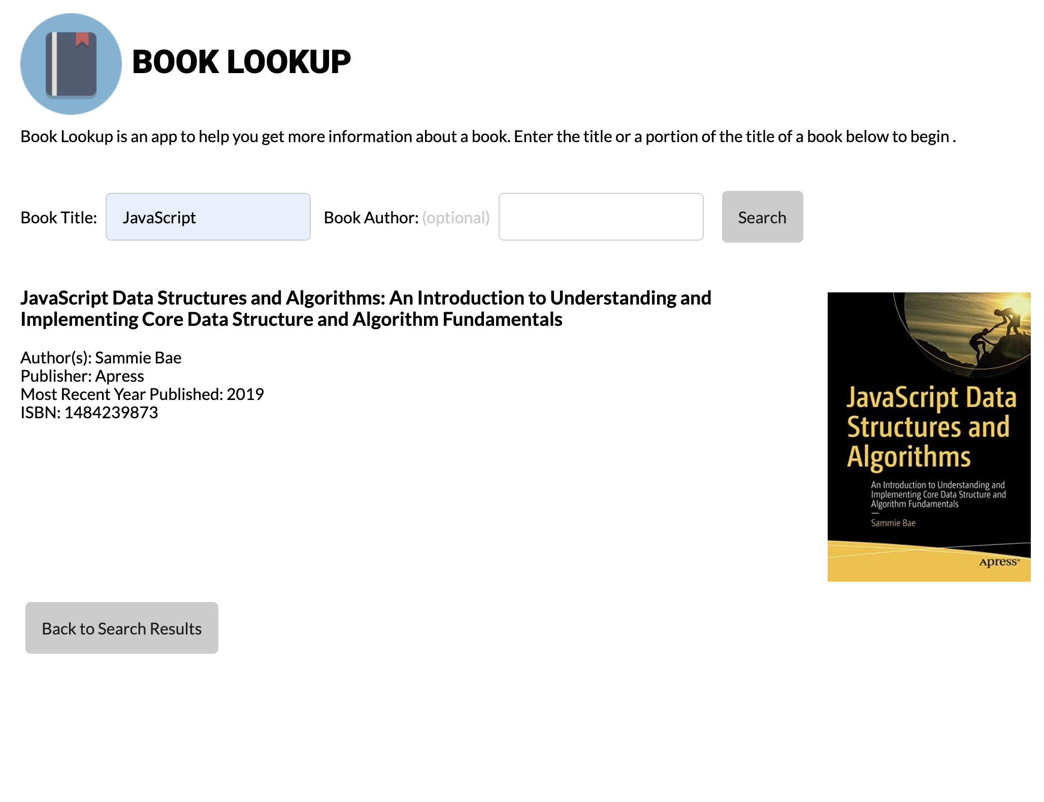 Book Details Screenshot