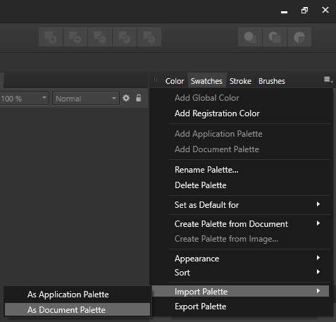 Import Palette Screenshot