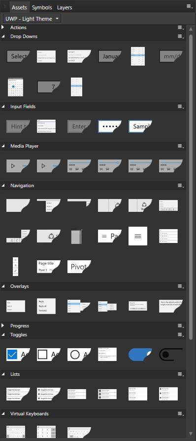Light Theme Assets Screenshot