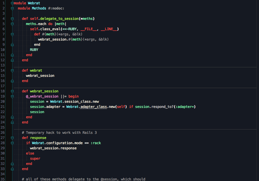 Screenshot of the Stellar theme for RubyMine