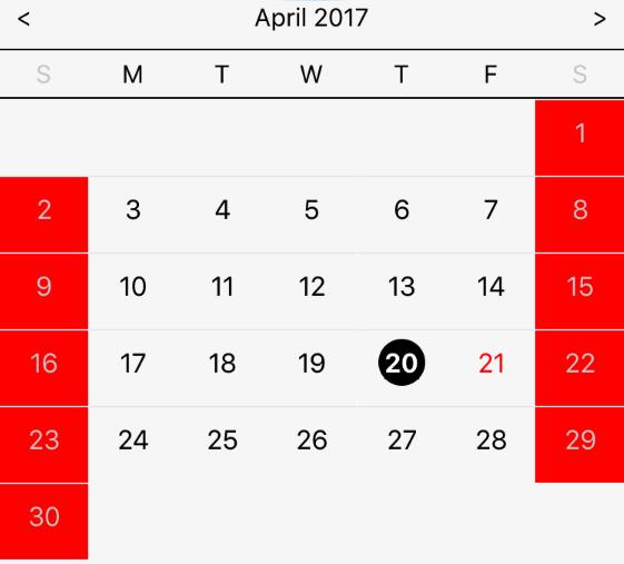 Year Calendar React : React native calendar npm