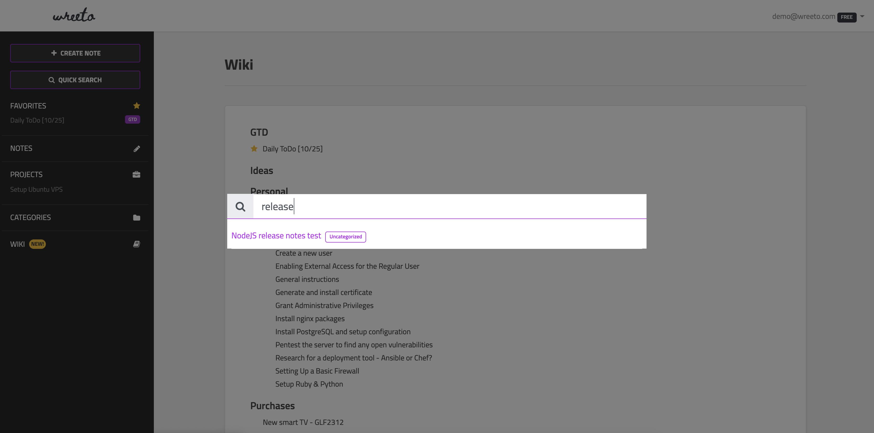 Screenshot Running Command