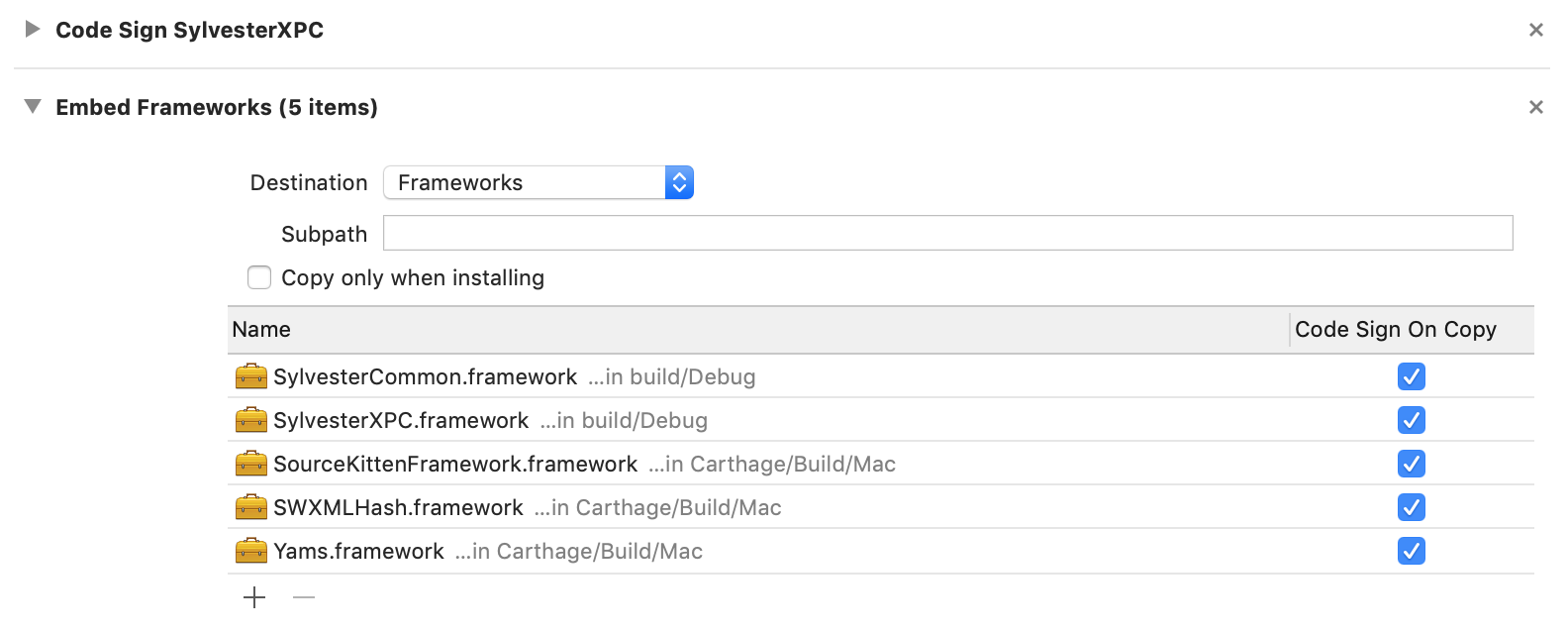 Embed Frameworks Phase