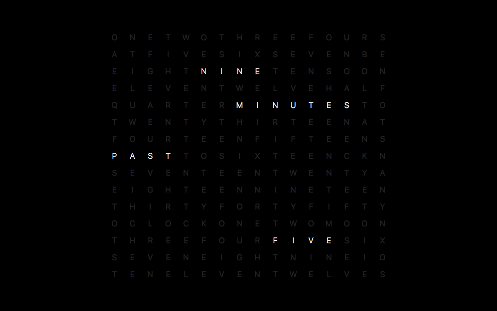 Grid Clock Screenshot