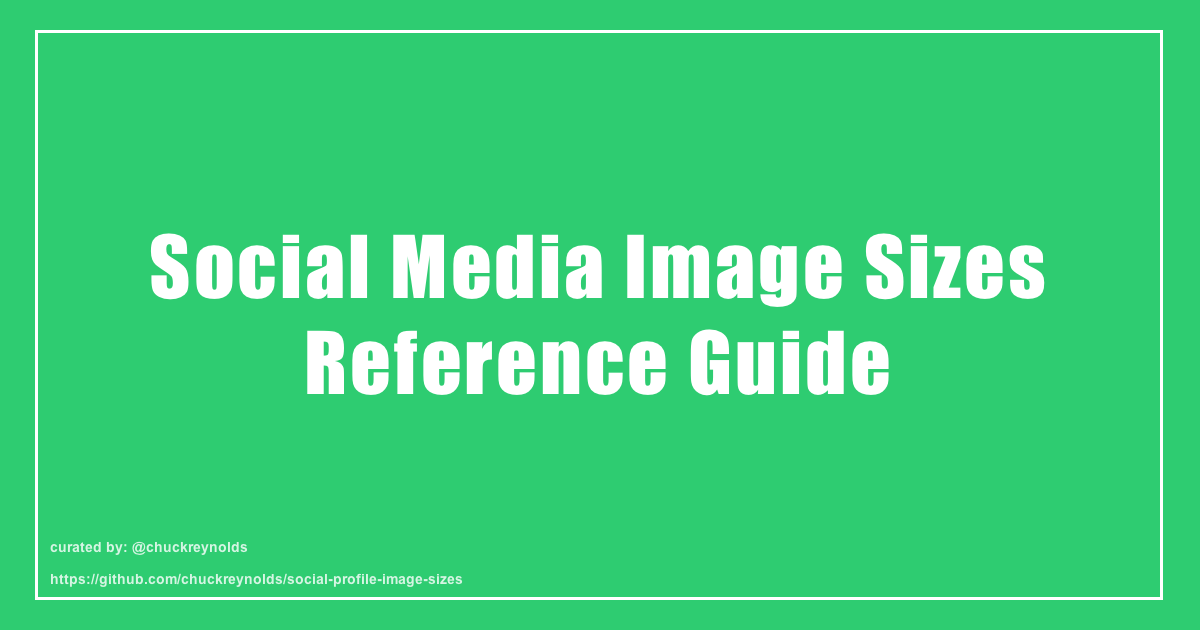 Social Media Image Sizes Reference Guide