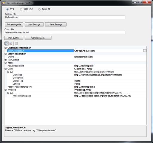 Cicorias/federationmetadatagenerator: Tool To