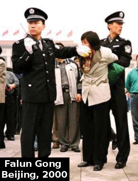 Falun Gong lady silenced