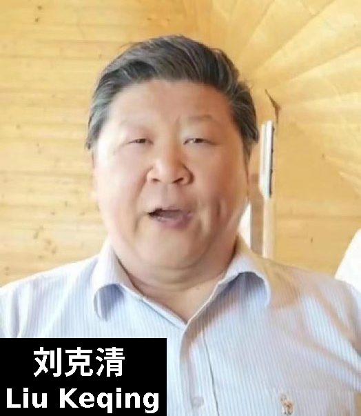Liu Keqing singer Xi lookalike