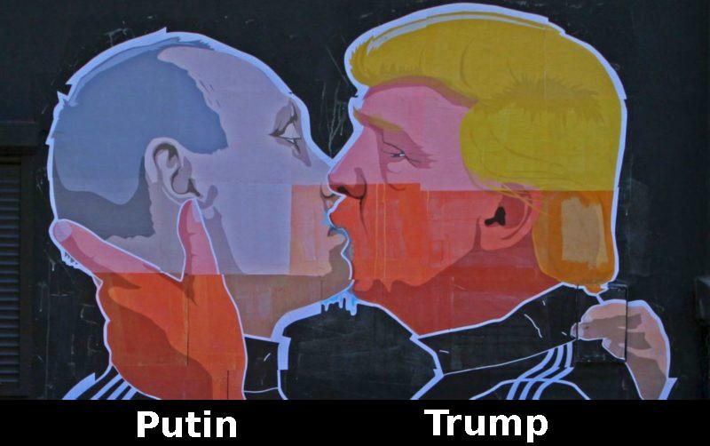 Putin Trump kiss