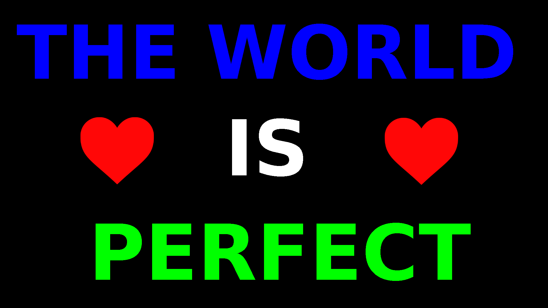 The world is perfect