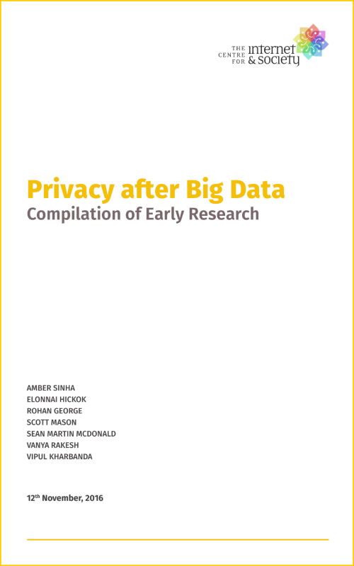 Privacy after Big Data - Compilation of Early Research