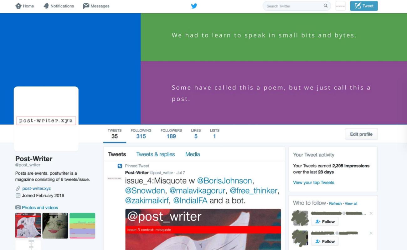 Twitter - Post-Writer