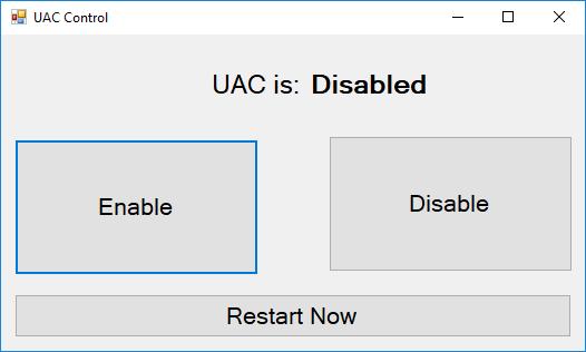 UAC Control