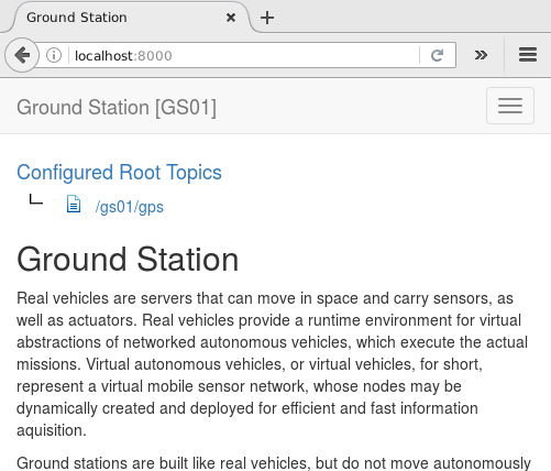 Ground Station Start Page