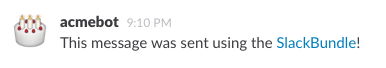Example of a message posted to Slack