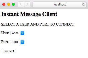 Unconnected client