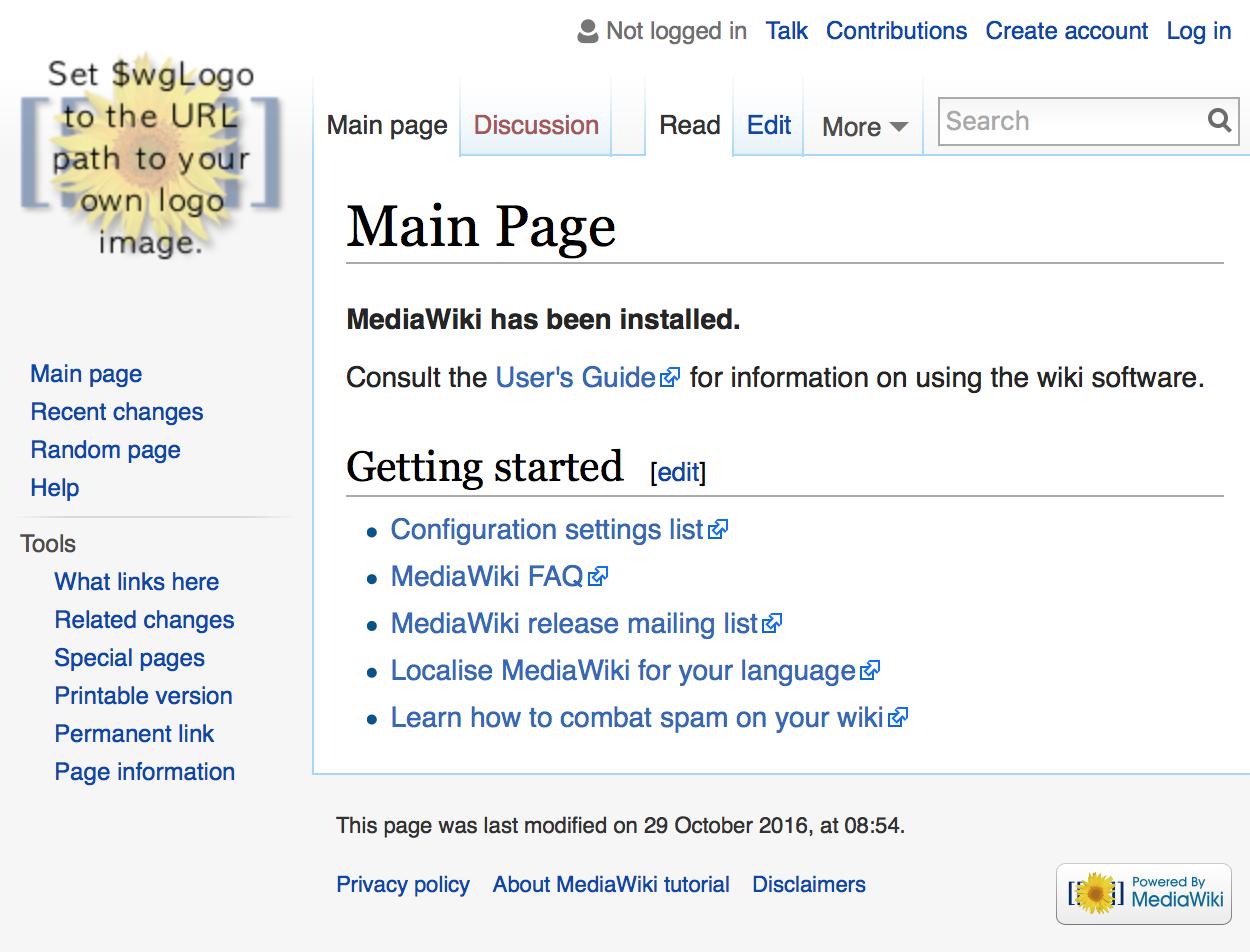 Mediawiki page