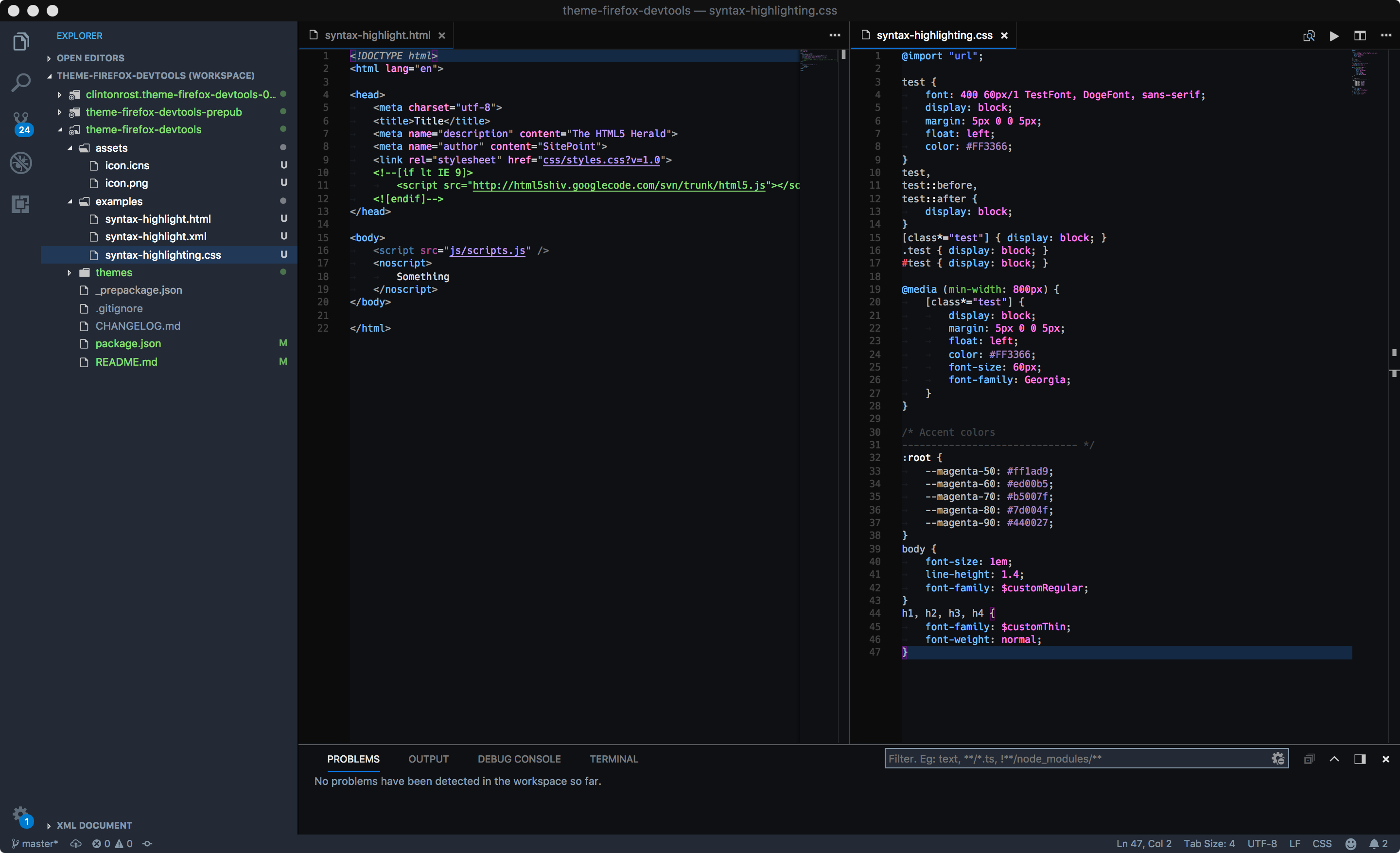 Firefox DevTools Theme screenshot