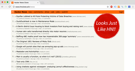Hacker News Clone Demo