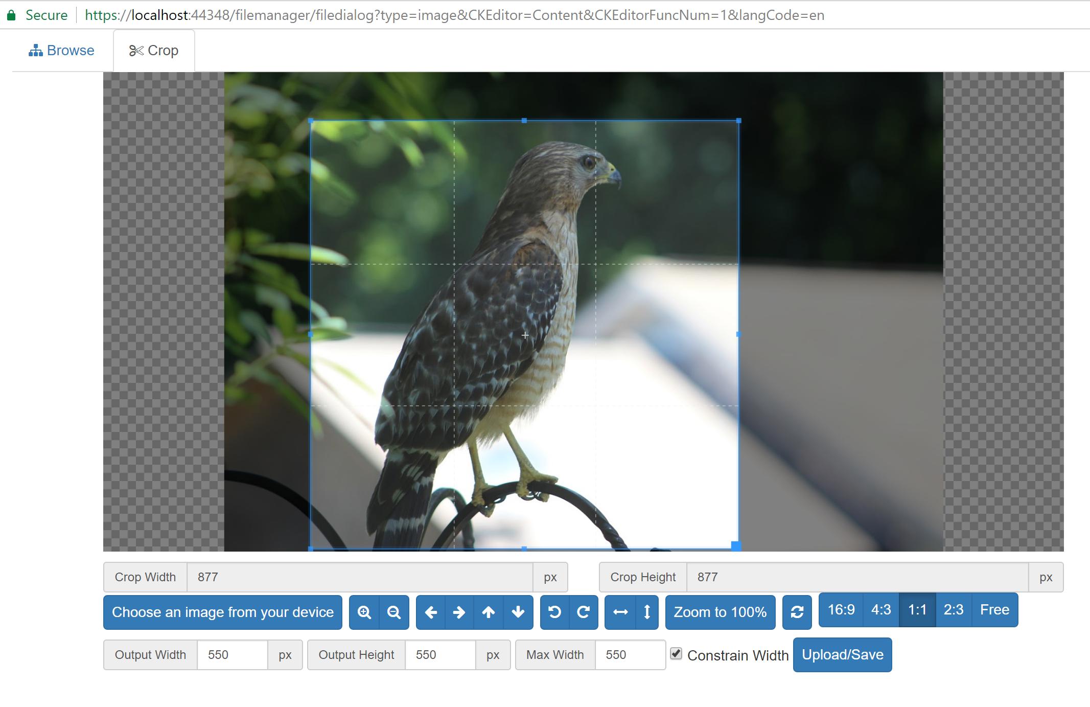 image cropper Screen shot