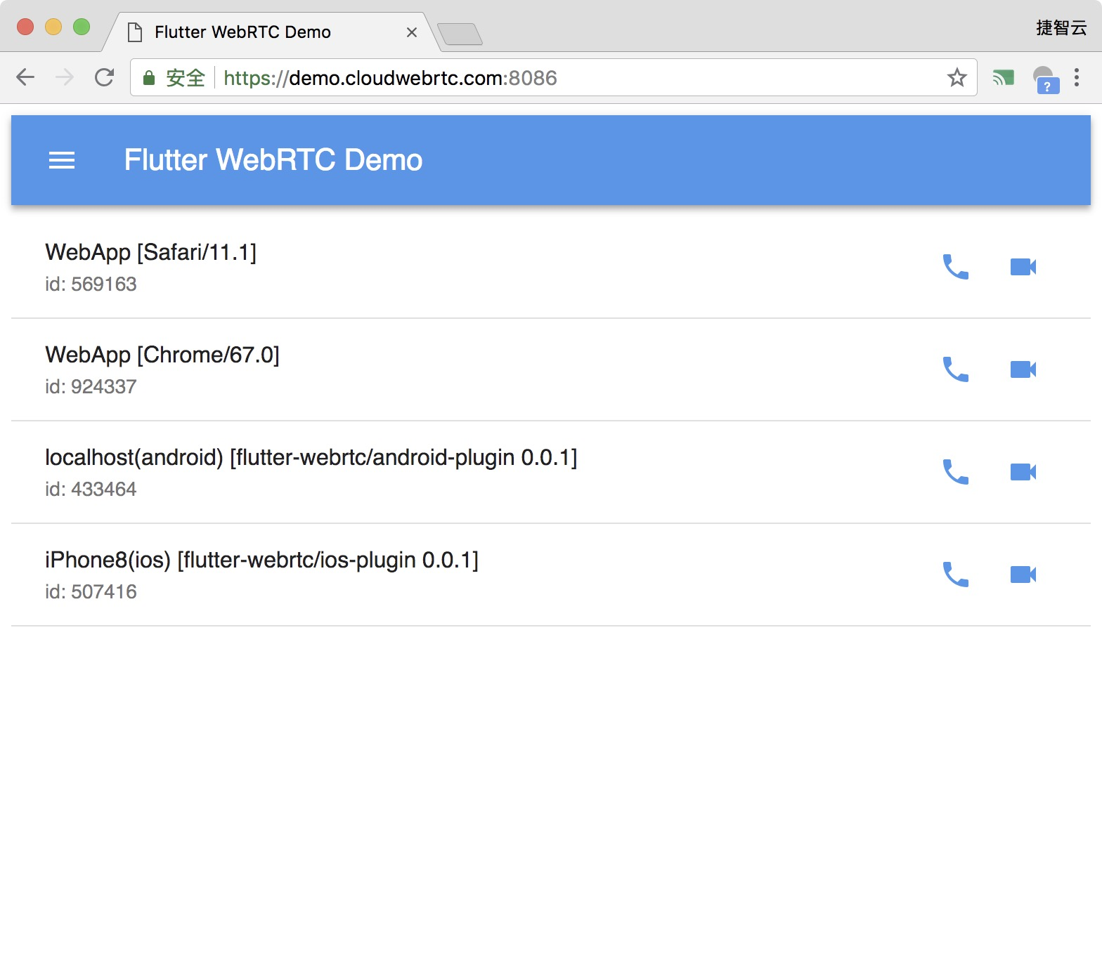 GitHub - cloudwebrtc/flutter-webrtc-server: A simple WebRTC