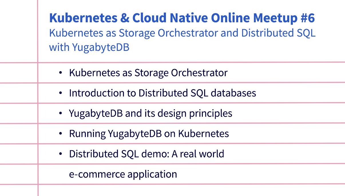 Kubernetes & Cloud Native Online Meetup # 6